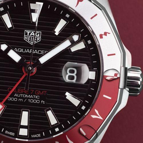 WAY201U.BA0927 : TAG Heuer Aquaracer 300M Calibre 7 GMT Stainless Steel / Qatar Limited Edition