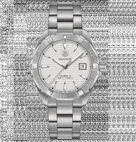 TAG Heuer WAY2111.BA0928 : Aquaracer 300M Calibre 5 40.5 Stainless Steel / Silver / Bracelet