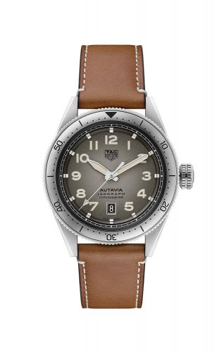 TAG Heuer WBE5111.FC8267 : Autavia Isograph Calibre 5 Stainless Steel / Grey / Leather