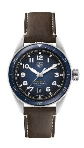 TAG Heuer WBE5112.FC8266 : Autavia Isograph Calibre 5 Stainless Steel / Blue / Leather