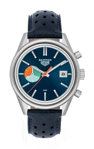 CAR221B : TAG Heuer Carrera Calibre 18 Stainless Steel / Blue / Skipper for Hodinkee