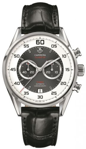 CAR2B11.FC6235 : TAG Heuer Carrera Calibre 36 Flyback Stainless Steel / Grey / Alligator