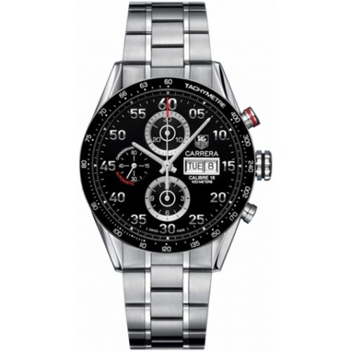 TAG Heuer CV2A10.BA0796 : Carrera Calibre 16 Day Date 43 Stainless Steel / Black / Bracelet