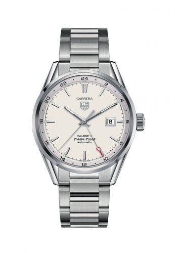 WAR2011.BA0723 : TAG Heuer Calibre 7 Twin Time Stainless Steel / Silver / Bracelet