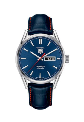 TAG Heuer WAR201P.FC6485 : Carrera Calibre 5 Day Date Stainless Steel / Blue / Alligator
