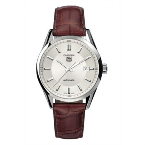 WV211A.FC6181 : TAG Heuer Carrera Calibre 5 39 Stainless Steel / Silver / Alligator