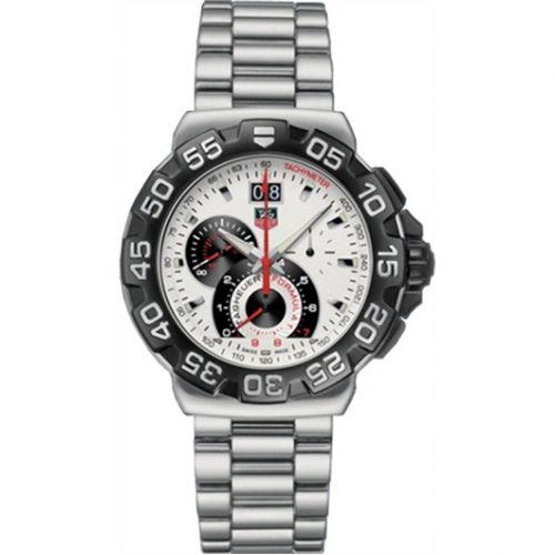 CAH1011.BA0860 : TAG Heuer Formula 1 Quartz Chronograph Big Date 44 Stainless Steel / White / Bracelet