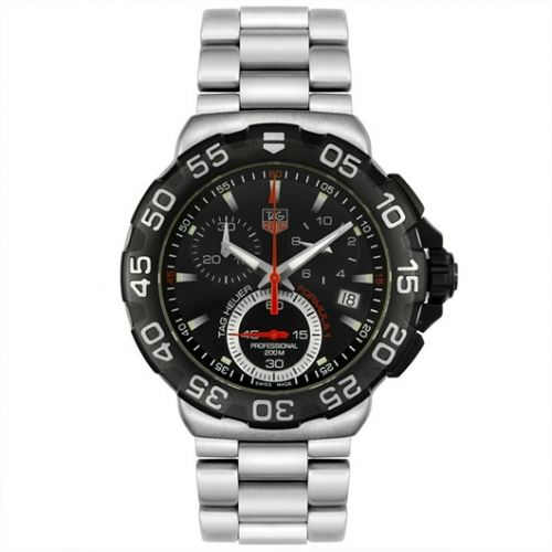 TAG Heuer CAH1110.BA0850 : Formula 1 Quartz Chronograph 41 Steel / Black / Bracelet
