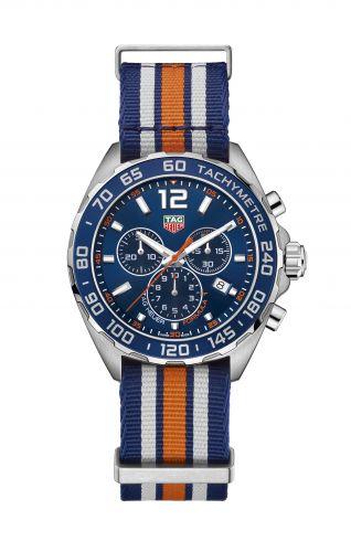TAG Heuer CAZ1014.FC8196 : Formula 1 Chronograph Quartz 43 Stainless Steel / Blue / Bracelet