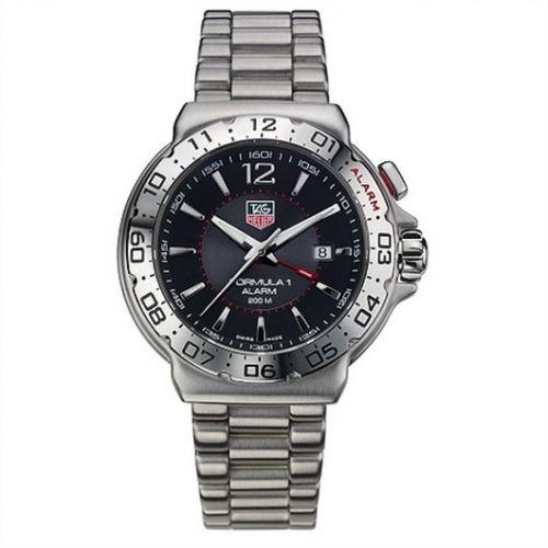 TAG Heuer WAC111A.BA0850 : Formula 1 Quartz Alarm 41 Stainless Steel / Black / Bracelet