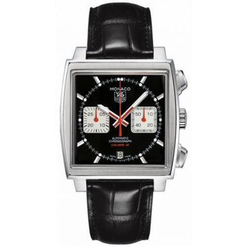 TAG Heuer CAW2114.FC6177 : Monaco Calibre 12 Black / Silver