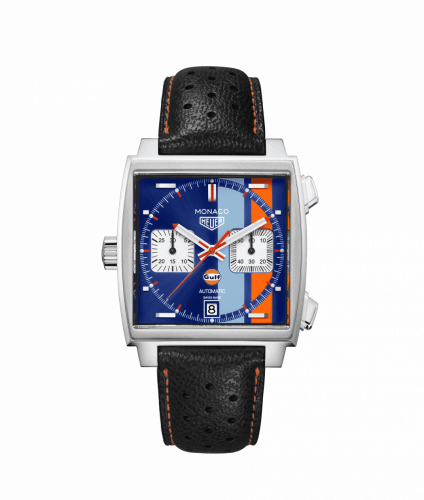 TAG Heuer CAW211T.FC6440 : Monaco Calibre 11 Stainless Steel / Blue / Gulf 50th Anniversary