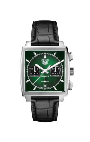 TAG Heuer CBL2116.FC6497 : Monaco Calibre Heuer 02 Stainless Steel / Green