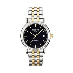 Tissot T95.2.483.51 : Carson Automatic 35.5 Stainless Steel / Yellow Gold PVD / Black / Bracelet