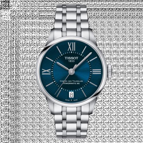 Tissot T099.207.11.048.00 : Chemin Des Tourelles Powermatic 80 32 Stainless Steel / Blue / Bracelet