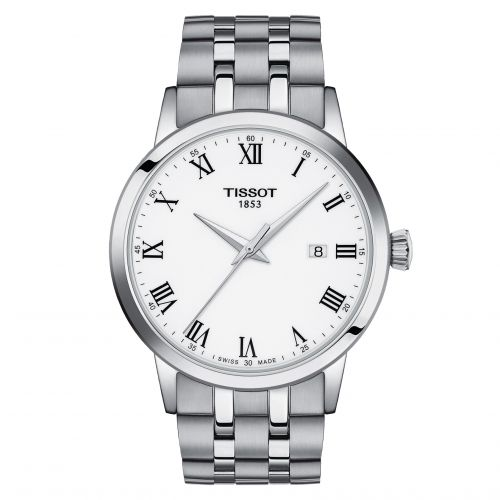Tissot T129.410.11.013.00 : Dream Quartz 42 Stainless Steel / White / Bracelet