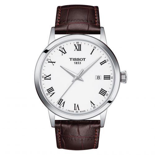 Tissot T129.410.16.013.00 : Dream Quartz 42 Stainless Steel / White / Bracelet