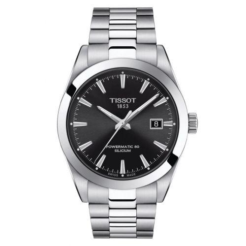 Tissot T127.407.11.051.00 : Gentleman Powermatic Stainless Steel / Black / Bracelet