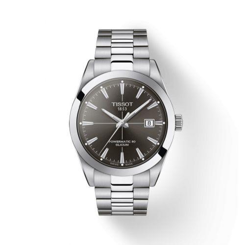 Tissot T127.407.11.061.01 : Gentleman Powermatic Stainless Steel / Grey / Bracelet