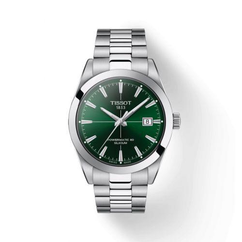 Tissot T127.407.11.091.01 : Gentleman Powermatic Stainless Steel / Green / Bracelet