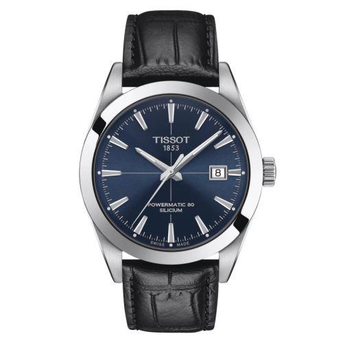 Tissot T127.407.16.041.01 : Gentleman Powermatic Stainless Steel / Blue / Strap