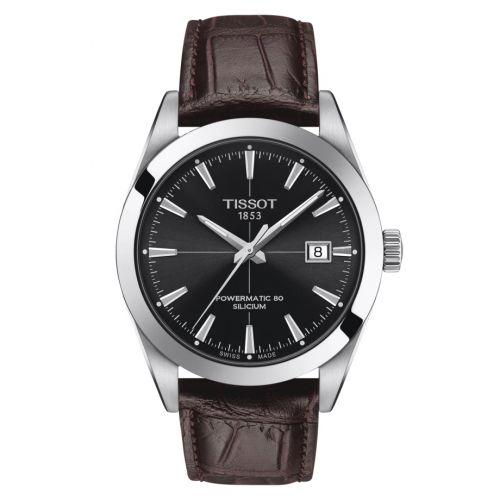 T127.407.16.051.01 : Tissot Gentleman Powermatic Stainless Steel / Black / Strap