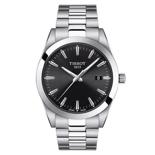 T127.410.11.051.00 : Tissot Gentleman Quartz Stainless Steel / Black / Bracelet