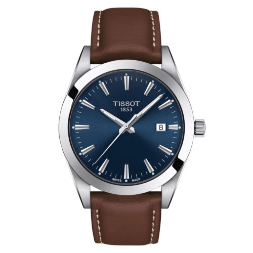 T127.410.16.041.00 : Tissot Gentleman Quartz Stainless Steel / Blue / Strap