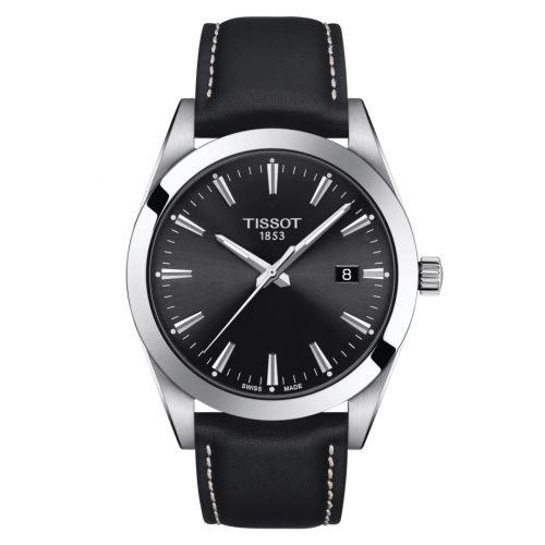 T127.410.16.051.00 : Tissot Gentleman Quartz Stainless Steel / Black / Strap