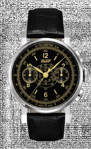 Tissot T040.432.16.051.00 : Heritage Chronograph Stainless Steel / Black / Strap