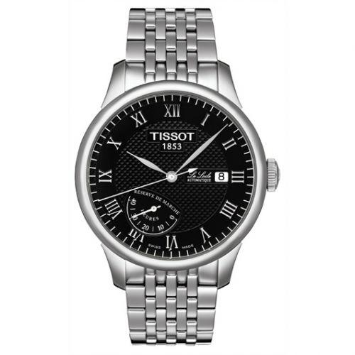 Tissot T006.424.11.053.00 : Le Locle Power Reserve 39.3 Stainless Steel / Black / Bracelet