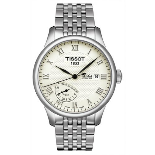 Tissot T006.424.11.263.00 : Le Locle Power Reserve 39.3 Stainless Steel / Silver / Bracelet