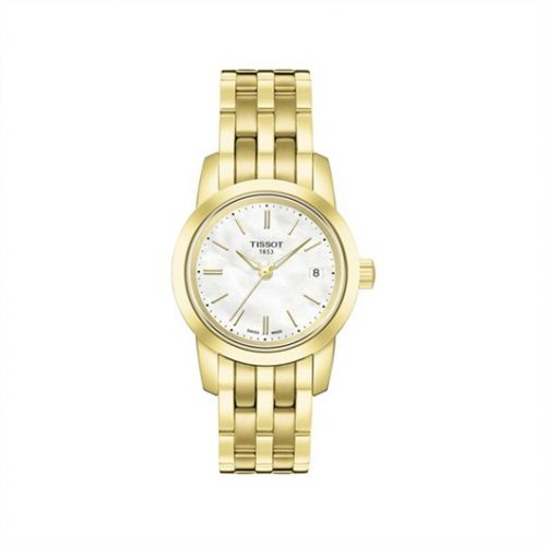 Tissot T033.210.33.111.00 : Dream Quartz 28 Yellow Gold PVD / MOP / Bracelet