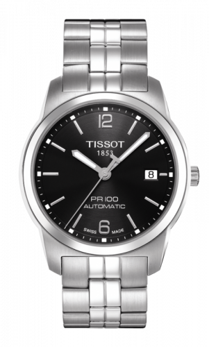 Tissot T049.407.11.057.00 : PR 100 Automatic 38 Stainless Steel / Black / Bracelet