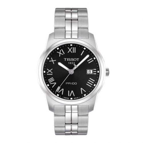 Tissot T049.410.11.053.01 : PR 100 Quartz 38 Stainless Steel / Black / Bracelet