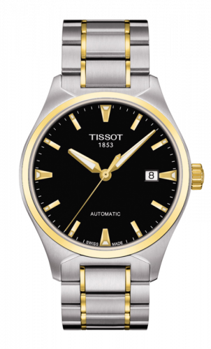 Tissot T060.407.22.051.00 : T-Tempo Automatic Stainless Steel / Yellow Gold PVD / Ivory / Bracelet