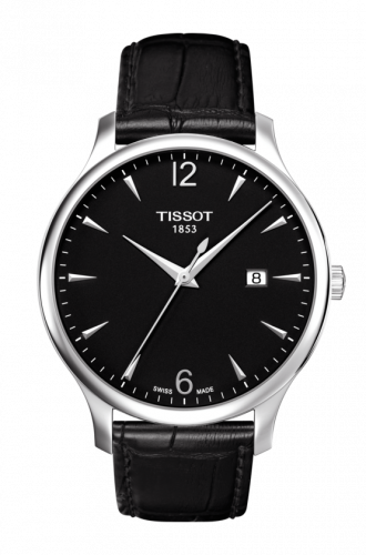 Tissot T063.610.16.057.00 : Tradition 42 Stainless Steel / Black / Strap