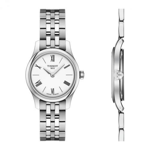 T063.009.11.018.00 : Tissot Tradition 5.5 Lady 25 Stainless Steel / White / Bracelet