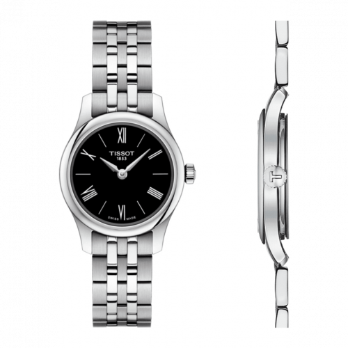 T063.009.11.058.00 : Tissot Tradition 5.5 Lady 25 Stainless Steel / Black / Bracelet