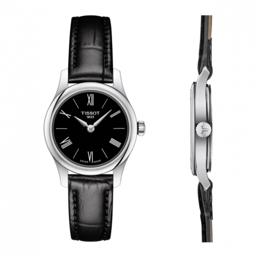 T063.009.16.058.00 : Tissot Tradition 5.5 Lady 25 Stainless Steel / Black