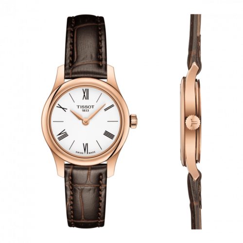 T063.009.36.018.00 : Tissot Tradition 5.5 Lady 25 Rose PVD / White