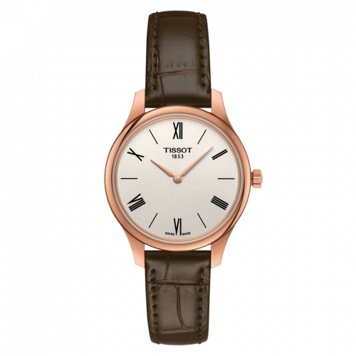T063.209.36.038.00 : Tissot Tradition 5.5 Lady 31 Rose PVD / Silver