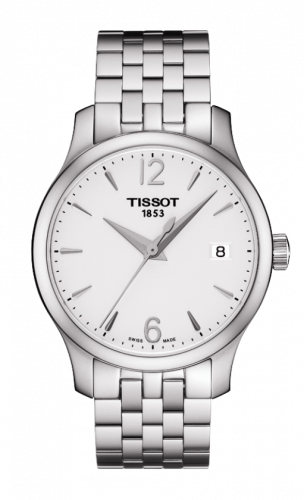 T063.210.11.037.00 : Tissot Tradition Lady Stainless Steel / Silver / Bracelet