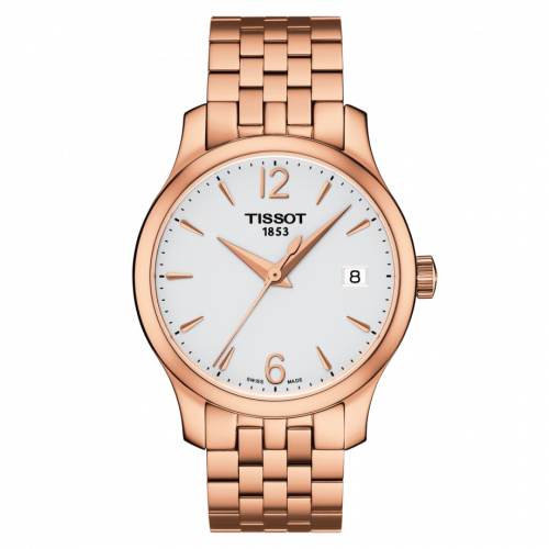 T063.210.33.037.00 : Tissot Tradition Lady PVD Rose Gold / Silver / Bracelet