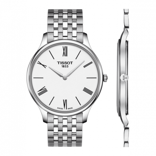 T063.409.11.018.00 : Tissot Tradition 5.5 Stainless Steel / White / Bracelet