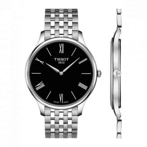 T063.409.11.058.00 : Tissot Tradition 5.5 Stainless Steel / Black / Bracelet