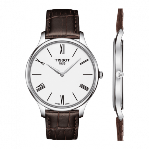 T063.409.16.018.00 : Tissot Tradition 5.5 Stainless Steel / White / Strap