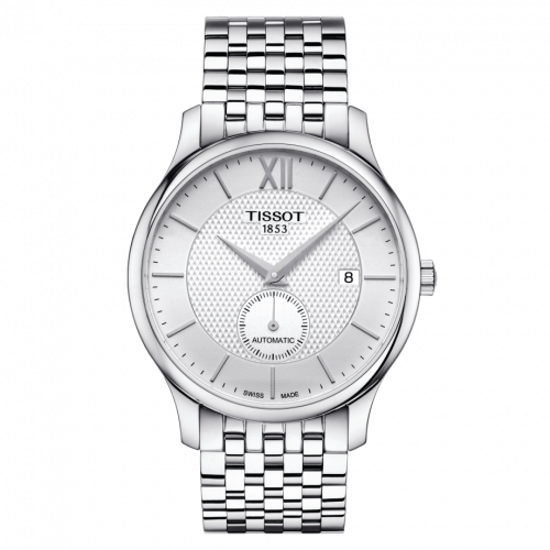T063.428.11.038.00 : Tissot Tradition Automatic Small Second Stainless Steel / Silver / Bracelet