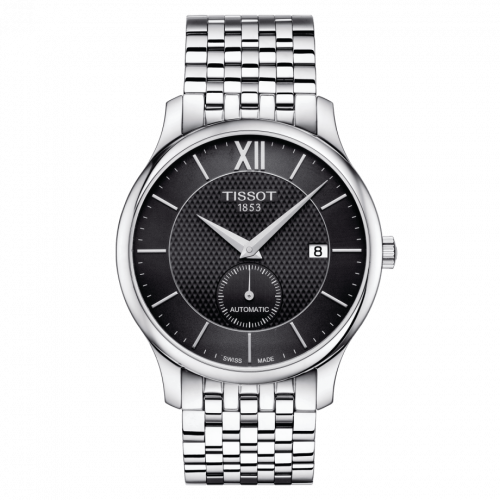 Tissot T063.428.11.058.00 : Tradition Automatic Small Second Stainless Steel / Black / Bracelet
