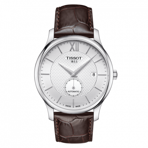 T063.428.16.038.00 : Tissot Tradition Automatic Small Second Stainless Steel / Silver